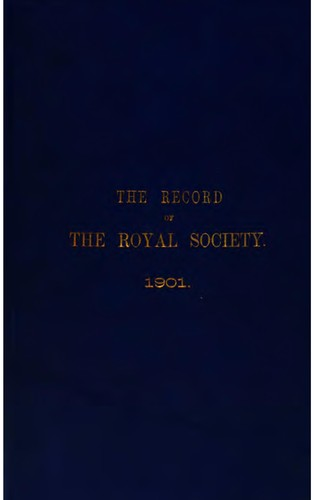 The record of the Royal society of London.