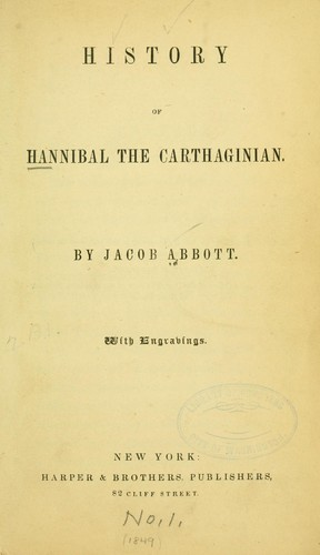 History of Hannibal the Carthaginian.