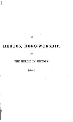 Heroes and Hero-worship