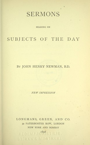 Download Sermons bearing on subjects of the day