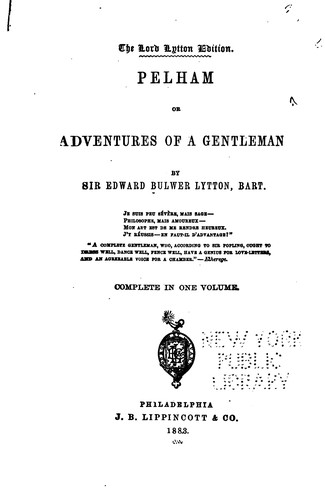 Download Pelham; Or, Adventures of a Gentleman