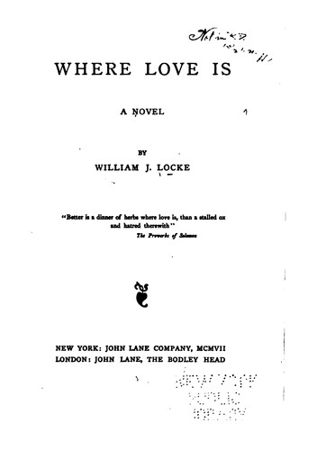 Where Love is: A Novel