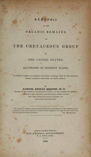 Synopsis of the organic remains of the Cretaceous group of the United States.