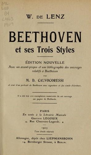 Beethoven et ses trois styles.
