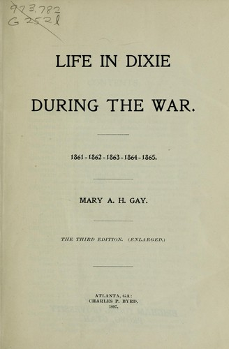 Download Life in Dixie during the war