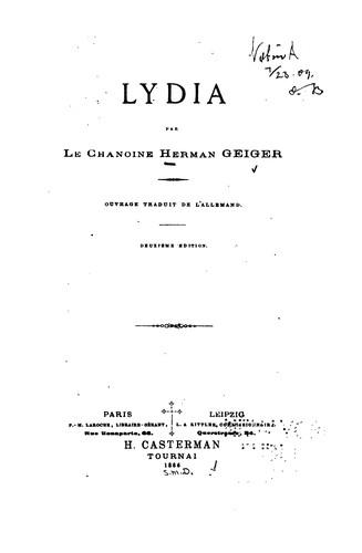 Lydia …