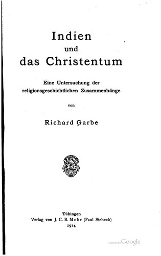 Download Indien und das Christentum
