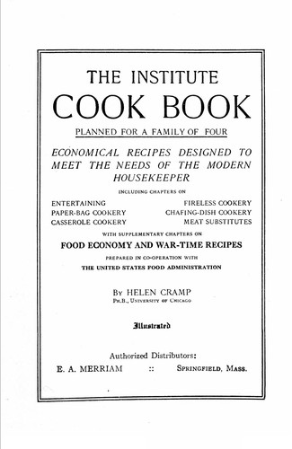 The Institute cook book