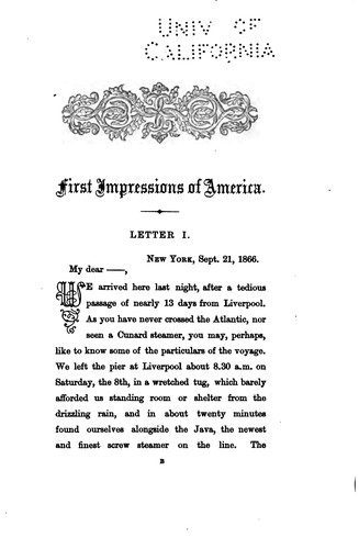 Download First impressions of America.