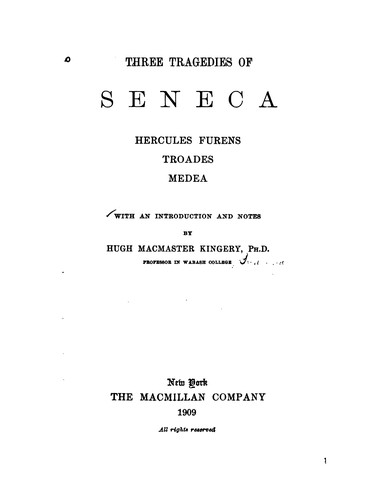 Three tragedies of Seneca
