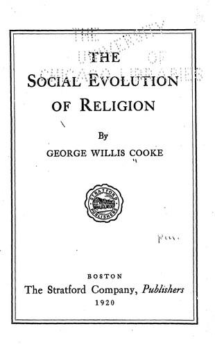 Download The social evolution of religion