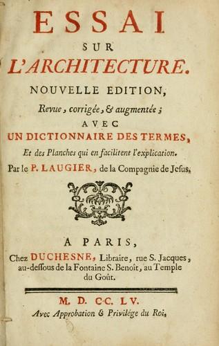 Download Essai sur l'architecture
