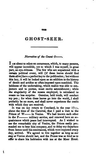 The Ghost-seer!
