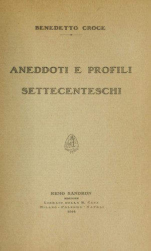 Aneddoti e profili settecenteschi
