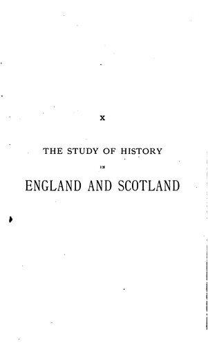The study of history in England and Scotland