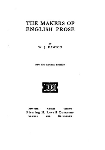 The makers of English prose.