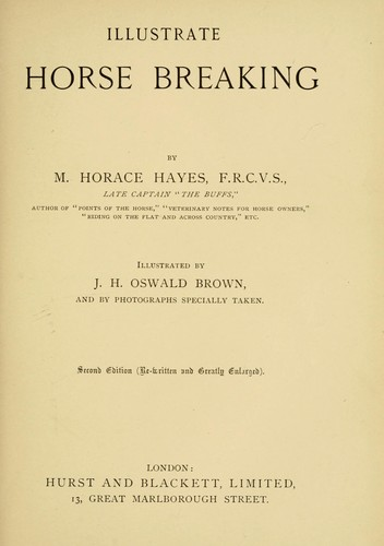 Download Illustrated horse breaking