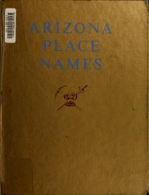 Cover of: Arizona place names. | William Croft Barnes