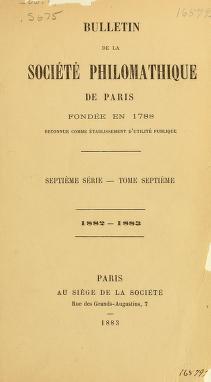 Cover of: Bulletin de la Société philomathique de Paris | William L. Corbin