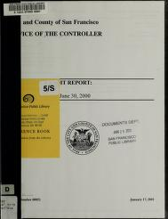 Concession audit report by San Francisco (Calif.). Office of the Controller. Audits Division.