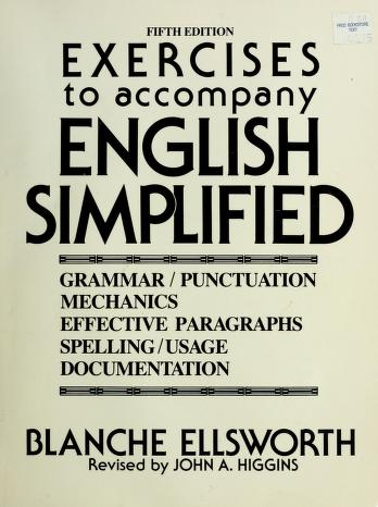 Cover of: English Simplified/Exercises   Blanche Ellsworth