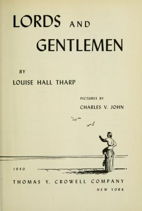 Cover of: Lords and gentlemen | Louise Hall Tharp