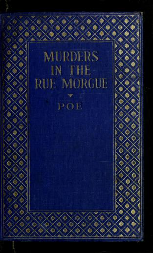 Cover of: The murders in the Rue Morgue | Edgar Allan Poe