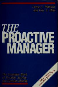 Cover of: The proactive manager | Lorne C. Plunkett