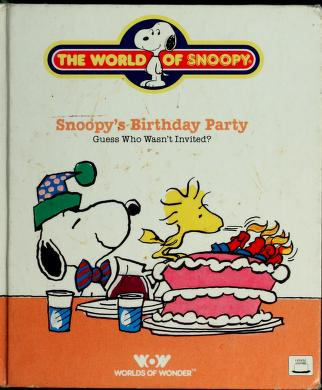 Cover of: Snoopy's Birthday Party (World of Snoopy) | Lee Mendelson