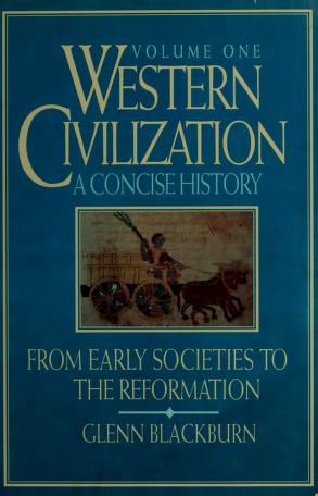 Cover of: Western civilization | Glenn Blackburn