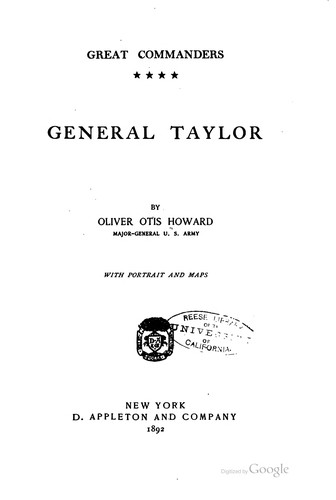 General Taylor by Oliver Otis Howard