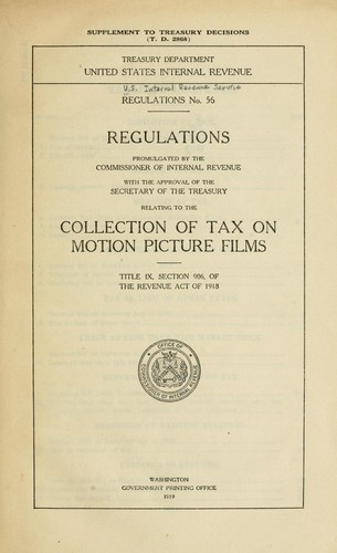 Regulations No. 56 by United States. Internal Revenue Service.