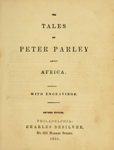 The tales of Peter Parley about Africa.