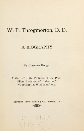 W. P. Throgmorton by Clarence Hodge